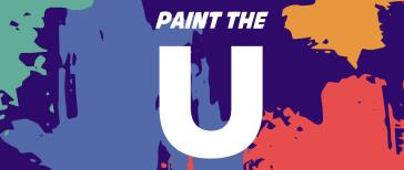 paint splatters, Paint the U text