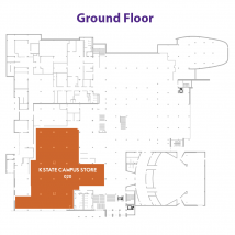 K-State Campus Store on floor map