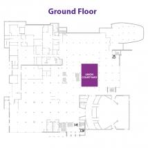 Courtyard on floor map