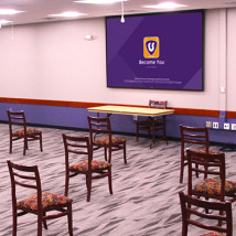 Flint Hills Room with socially distanced chairs