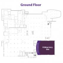 Forum Hall on floor map