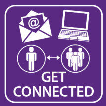 email icon and computer