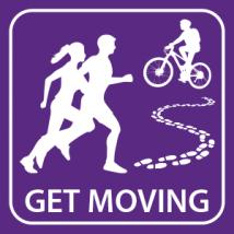 people running and biking