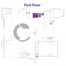 Radina's at the Union and coffee lounge on floor map