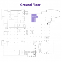Student Design Services on floor map