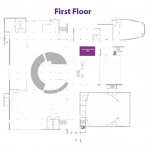 Library Help Desk at the Union on floor map