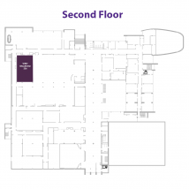 West Ballroom on floor map
