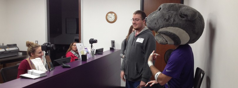 Willie Wildcat in the ID Center