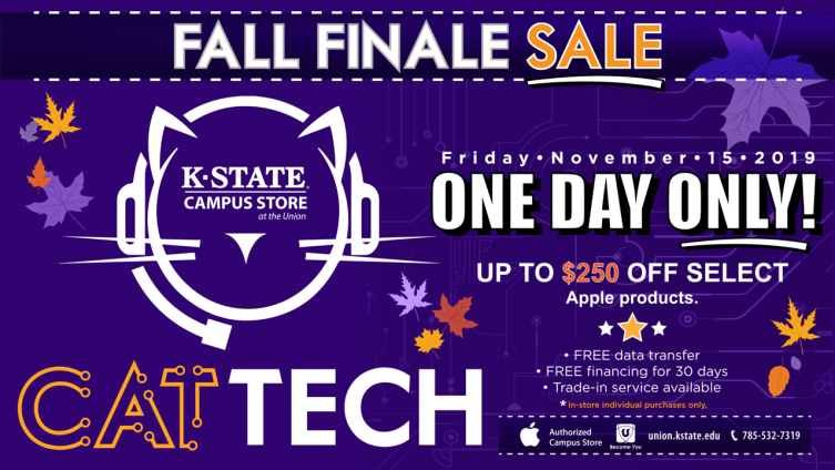 Cat Tech logo with sale information
