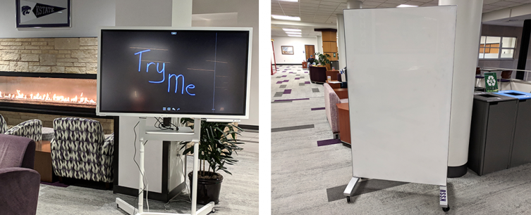 Electronic flip board and whiteboard