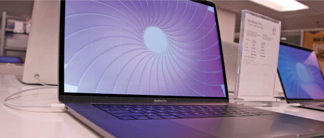 open Apple laptop