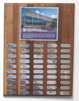 Employee Achievement Award name plaque