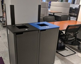 ground floor recycling bins
