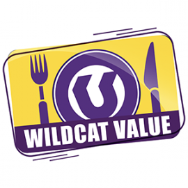 Wildcat Value, illustrated plate and silverware